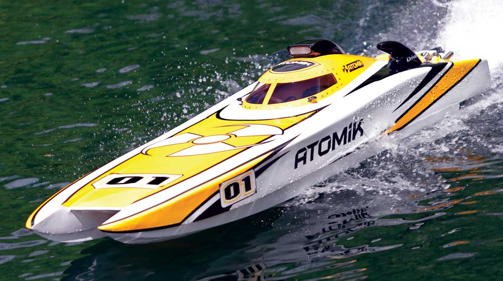 Atomik RC A.R.C. 58-Inch Electric Racing Cat - RC Boat Magazine